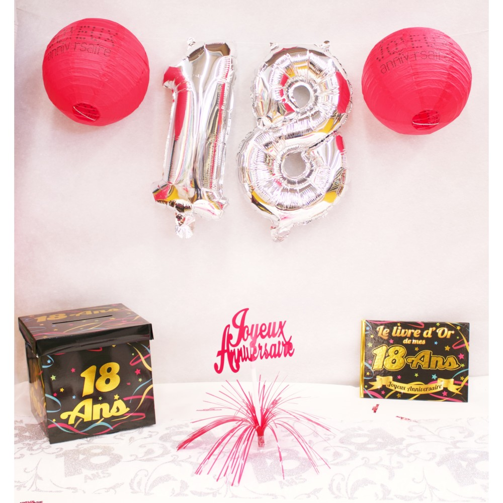 DECORATIONS ANNIVERSAIRE 18 ANS