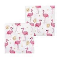 SERVIETTES FLAMANT ROSE